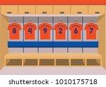 soccer dressing rooms team.... | Shutterstock .eps vector #1010175718