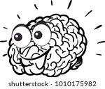 funny illustration of the brain   Shutterstock .eps vector #1010175982
