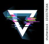 glitch effect  frame  modern... | Shutterstock .eps vector #1010178166