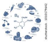 foods rich in vitamin b6.... | Shutterstock .eps vector #1010179642