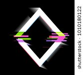 glitch effect  frame  modern... | Shutterstock .eps vector #1010180122