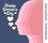 happy women's day illustration   Shutterstock .eps vector #1010191252