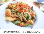spicy salad or three assortrd... | Shutterstock . vector #1010206642