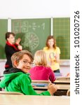 education   young female... | Shutterstock . vector #101020726