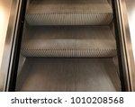stairs of escalator  closeup | Shutterstock . vector #1010208568