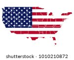 Usa Map Vector With Borders In...