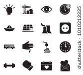 solid black vector icon set  ... | Shutterstock .eps vector #1010213335