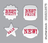 promotion sale labels | Shutterstock . vector #1010213575