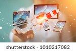 businesswoman on blurred...   Shutterstock . vector #1010217082