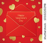 valentines day greeting card... | Shutterstock .eps vector #1010220298