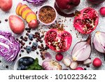Vegetables And Fruits With...