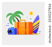 summer holidays vacation vector ... | Shutterstock .eps vector #1010227816