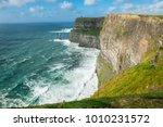 the cliffs of moher  irelands... | Shutterstock . vector #1010231572