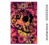 summer skull | Shutterstock .eps vector #101023216