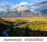 grand teton and snake river ... | Shutterstock . vector #1010235826