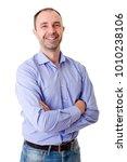 young happy casual man portrait ... | Shutterstock . vector #1010238106
