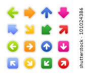 color stickers arrow sign.... | Shutterstock .eps vector #101024386