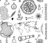 seamless pattern with globe ...   Shutterstock .eps vector #1010244832