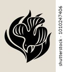 holly spirit fire logo  art... | Shutterstock .eps vector #1010247406