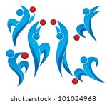 vector collection of active... | Shutterstock .eps vector #101024968