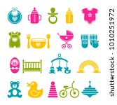 a set of simple icons for... | Shutterstock .eps vector #1010251972