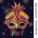 happy carnival festive concept... | Shutterstock .eps vector #1010257498