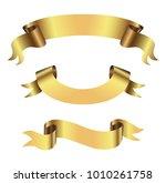 golden ribbon banners.vector... | Shutterstock .eps vector #1010261758