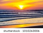 scenic colorful sunset at the... | Shutterstock . vector #1010263006