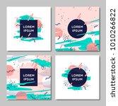 cover design set. creative... | Shutterstock .eps vector #1010266822