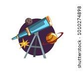 astronomy symbols  spyglass ...   Shutterstock .eps vector #1010274898