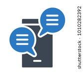 chat conversation messages   | Shutterstock .eps vector #1010282392