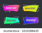 flat linear promotion vivid... | Shutterstock .eps vector #1010288635