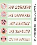 inspirational poster for women... | Shutterstock .eps vector #1010289952