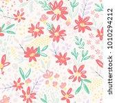 nice vector seamless flower... | Shutterstock .eps vector #1010294212