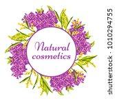 vector natural costeics label... | Shutterstock .eps vector #1010294755
