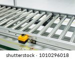 the conveyor chain  and... | Shutterstock . vector #1010296018