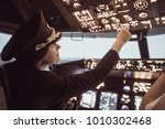 Female pilot the captain of the ...