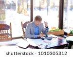 hardworking student preparing... | Shutterstock . vector #1010305312