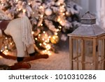 christmas interior of a living... | Shutterstock . vector #1010310286
