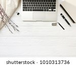 fashion blogger or freelancer... | Shutterstock . vector #1010313736