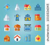 icon set about construction... | Shutterstock .eps vector #1010326045