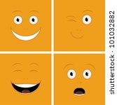 vector set of funny cartoon... | Shutterstock .eps vector #101032882