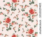beautiful seamless flower... | Shutterstock .eps vector #1010329405