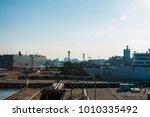 5 january 2018  port of incheon.... | Shutterstock . vector #1010335492