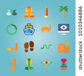 icon set about egypt with... | Shutterstock .eps vector #1010346886