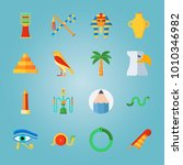 icon set about egypt with... | Shutterstock .eps vector #1010346982