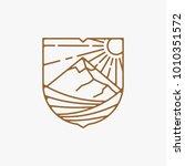 line art vineyard logo design... | Shutterstock .eps vector #1010351572