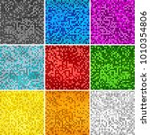 disco colors seamless... | Shutterstock .eps vector #1010354806