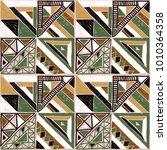 seamless geometric african... | Shutterstock .eps vector #1010364358