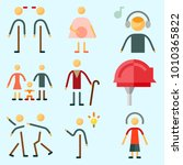 icons set about human with... | Shutterstock .eps vector #1010365822